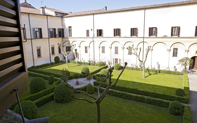 Binnenplaats van Hertogelijk paleis, Mantua stock fotografie