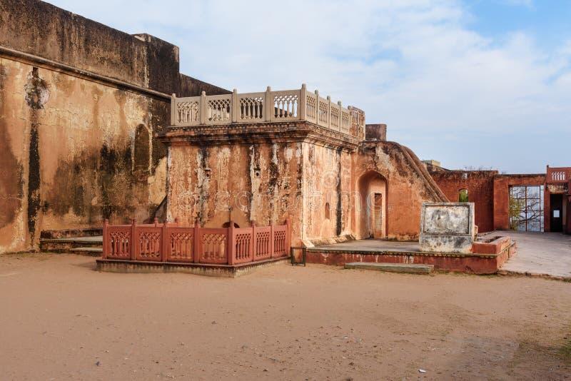 Binnenplaats van kanongieterij in Jaigarh-Fort jaipur India royalty-vrije stock afbeeldingen