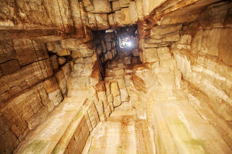Binnenprasat Bayon, Angkor Thom, Siem oogst, Kambodja stock afbeeldingen