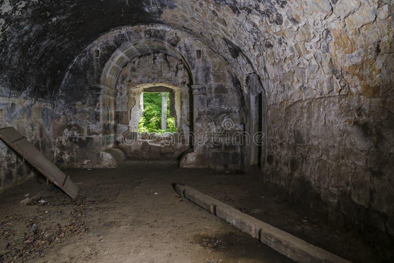 Binnenruïnes van Kasteel royalty-vrije stock fotografie