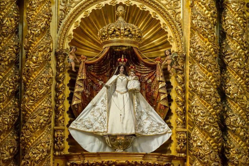 Binnensanto cristo de sangre-kerk, Oaxaca, Mexico stock afbeelding