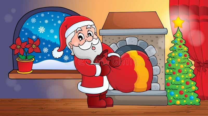 Binnenscène 6 van Santa Claus royalty-vrije illustratie
