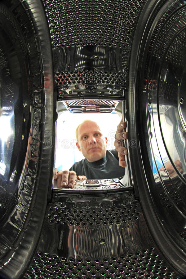 Binnenwasmachine stock foto's