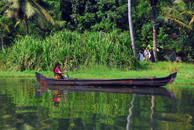 Binnenwater van Kerala royalty-vrije stock afbeeldingen