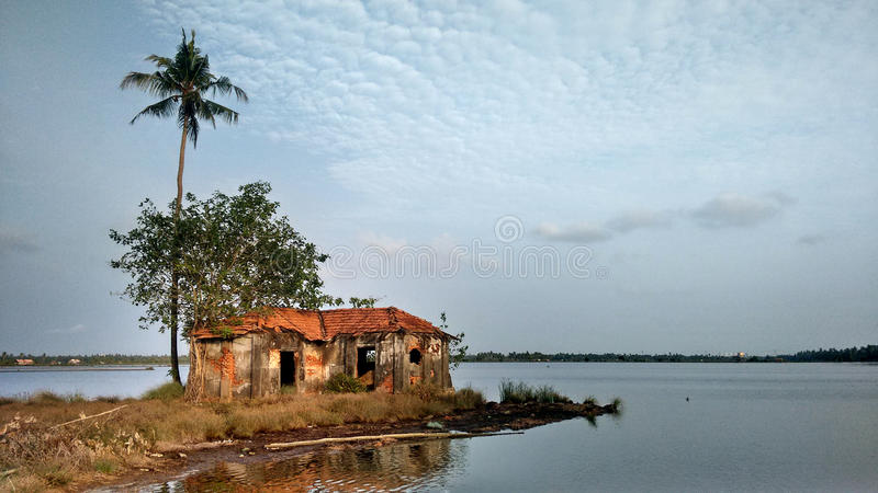Binnenwateren van Kerala stock foto