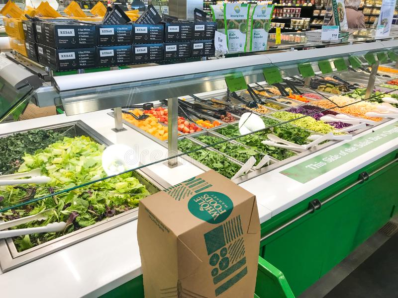 Binnenwhole foods stock afbeeldingen