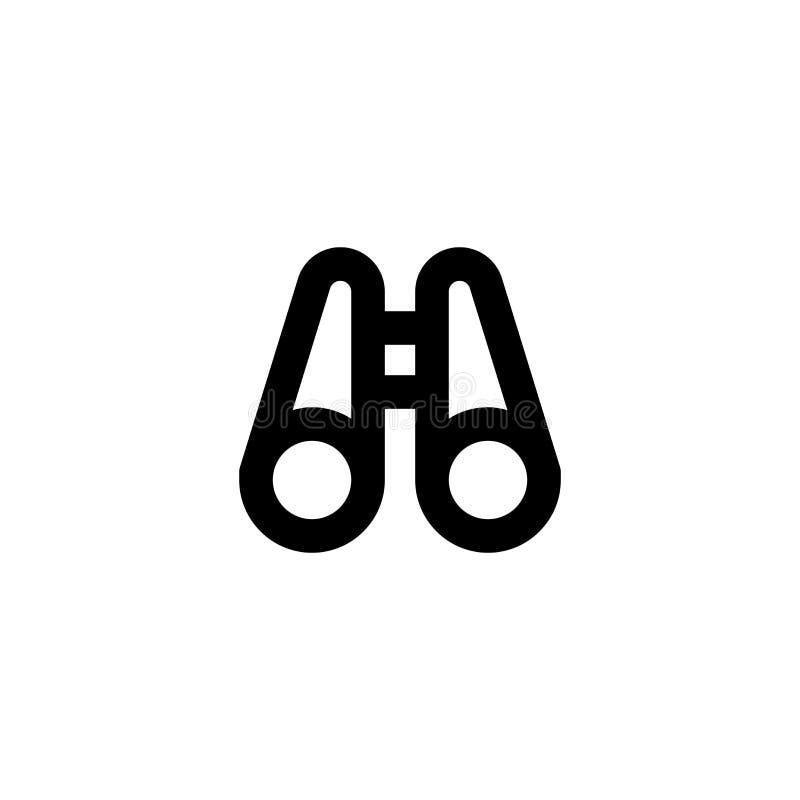 Binocleikone Armee erforschen Zeichen vektor abbildung