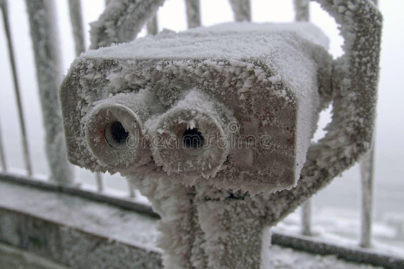 Binocolo congelato fotografie stock