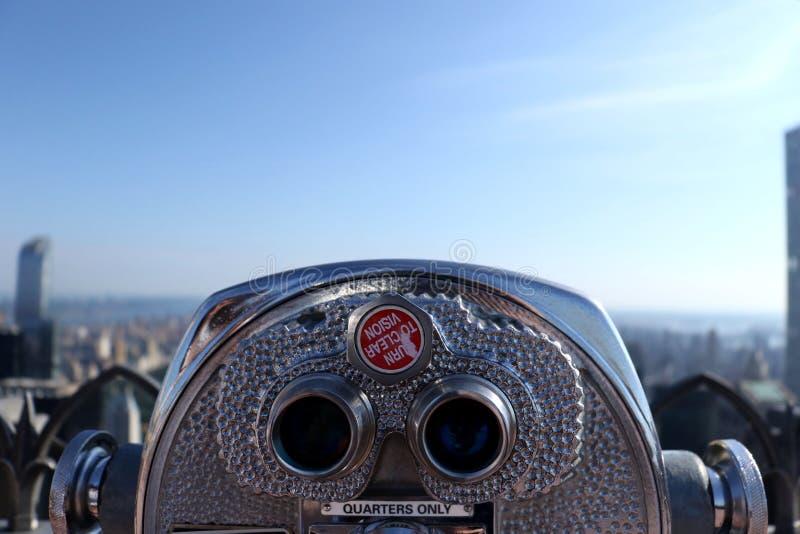Binocolo dell'orizzonte di New York fotografia stock