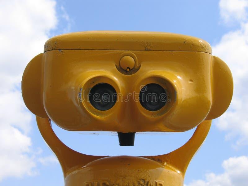 Binocolo giallo II fotografia stock