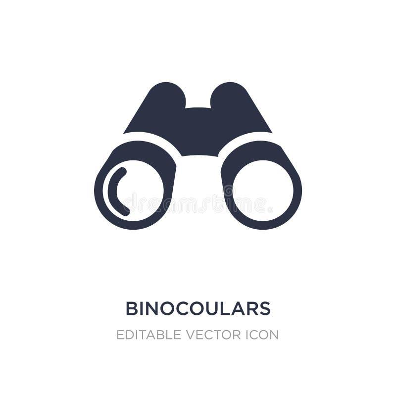 binocoulars pictogram op witte achtergrond Eenvoudige elementenillustratie van Algemeen concept royalty-vrije illustratie