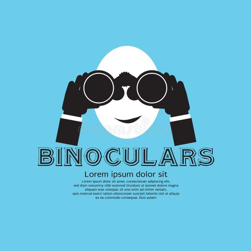 Binoculair. stock illustratie