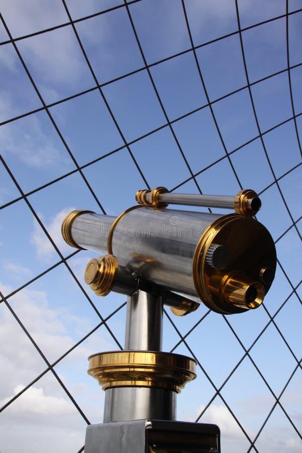 Binoculair bij eiffeltower in Parijs Frankrijk royalty-vrije stock fotografie