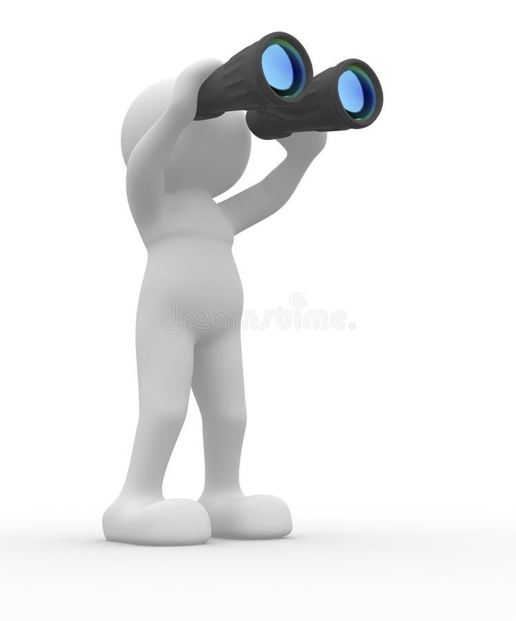 Binocular ilustração stock