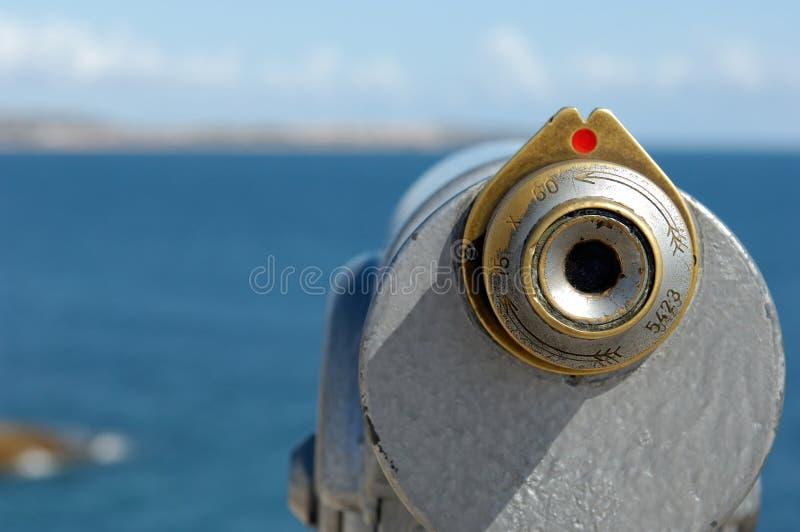 Binocular at the coast stock photography