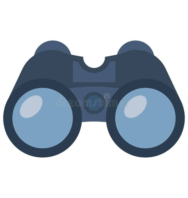 Free Binocular Color Isolated Vector Icon That Can Be Easily Modified Or Edit Royalty Free Stock Image - 134431066