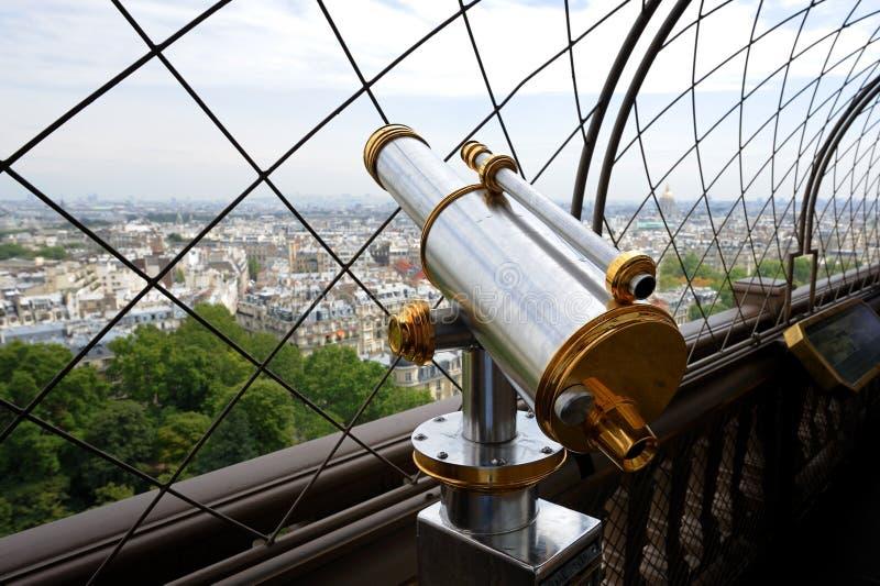 Binocular on Eiffel Tower stock images