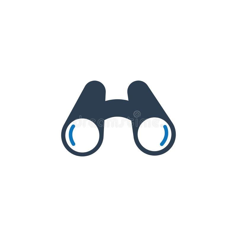 Binocular Icon. Binocular camp travel icon. Beautiful, Meticulously Designed Binocular Icon royalty free illustration