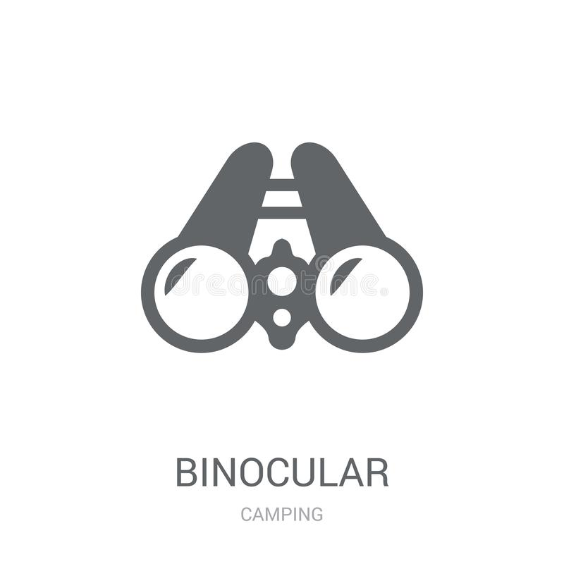 Binocular icon. Trendy Binocular logo concept on white background from camping collection royalty free illustration