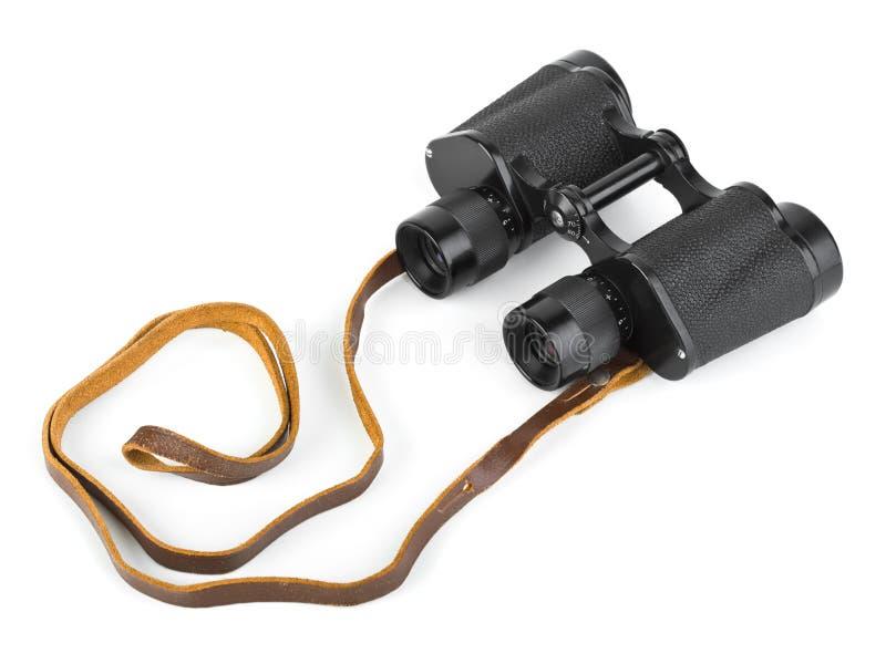 Binoculars. Isolated on white background stock images
