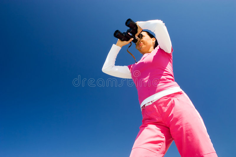 Download BINOCULARS stock image. Image of summer, long, rose, metallic - 749473