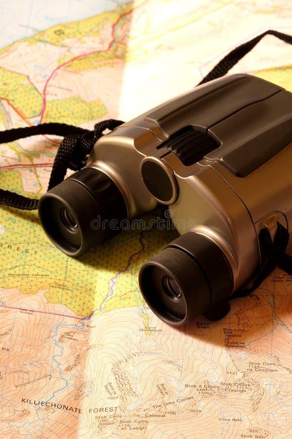 Download Binoculars on map stock photo. Image of walk, hike, tourism - 20919658