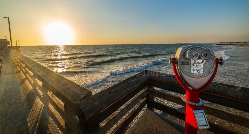 Sightseeing Binoculars On Virginia Beach Fishing Pier