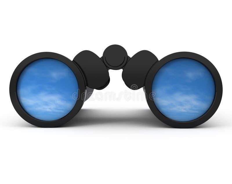 Binoculars Reflecting the Sky vector illustration