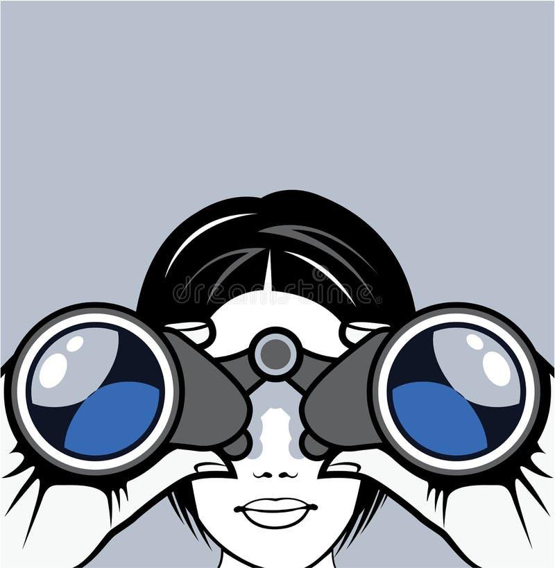 binoculars vector stock vector illustration of hand 49274529 rh dreamstime com binoculars clipart images binoculars clipart
