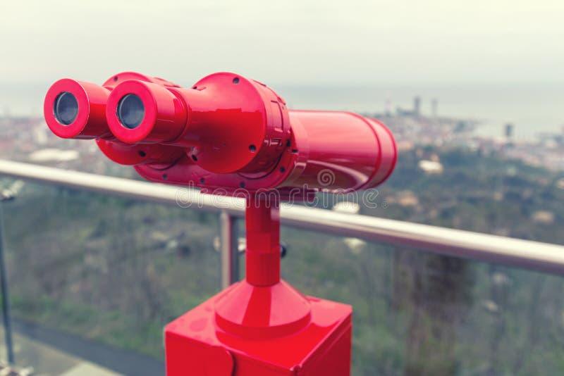 Binoculars for viewing stock photo