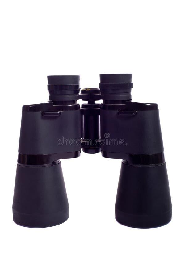 Binoculars on white stock images