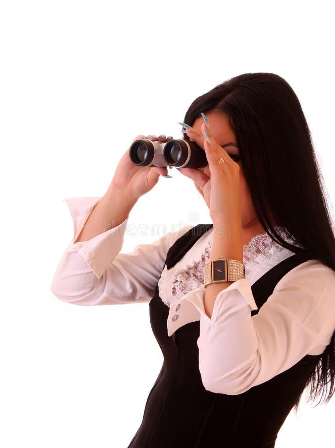 binokulär kvinna arkivbilder