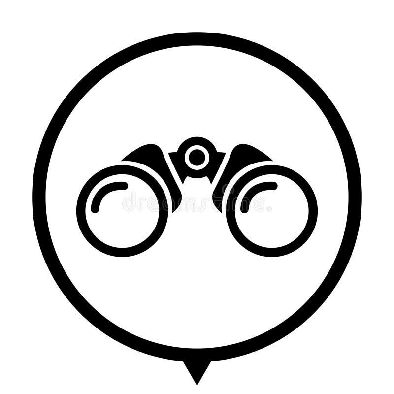 Binokular - schwarze Ikone für heiraten Entwurf stock abbildung
