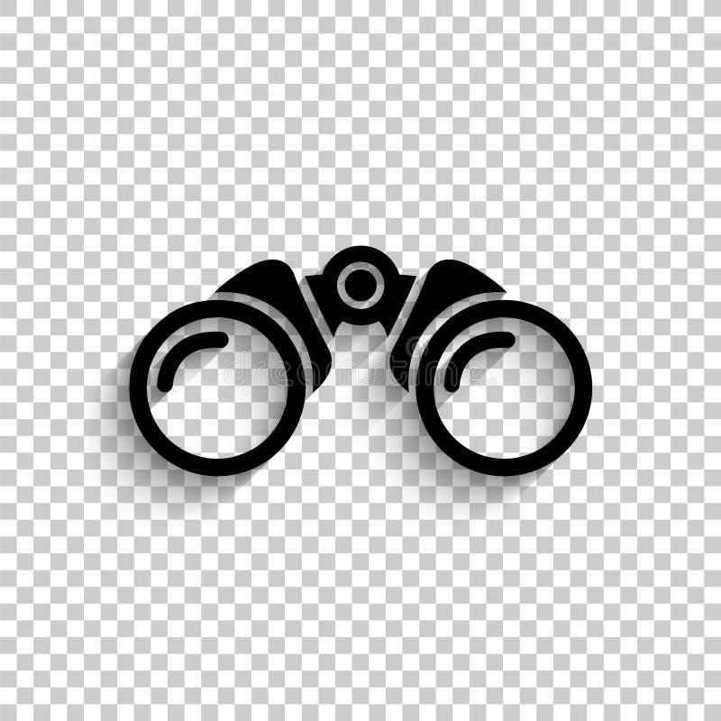 Binokular - schwarze Vektorikone lizenzfreie abbildung