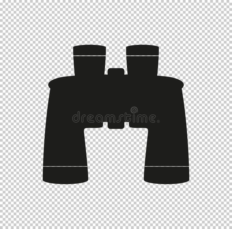 Binokular - schwarze Vektorikone vektor abbildung