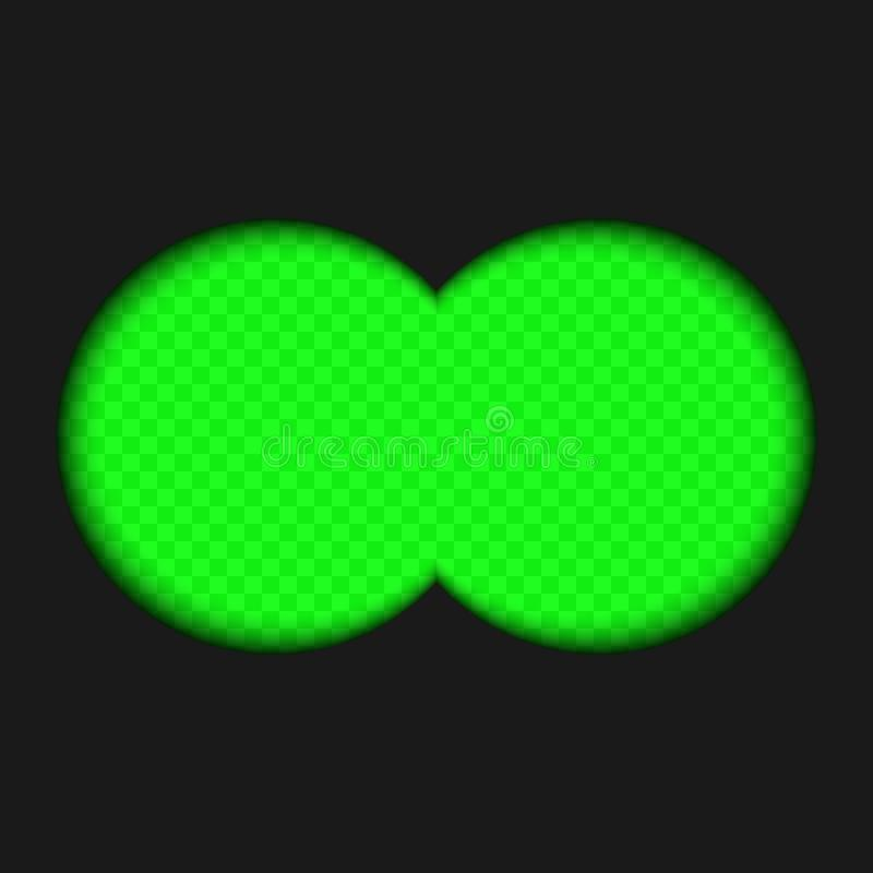 binokulare Ansicht vektor abbildung