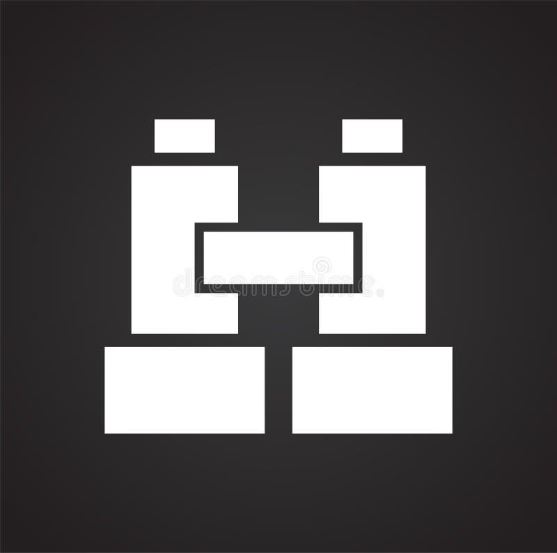 Binokulare Ikone auf Hintergrund f?r Grafik und Webdesign Einfaches Vektorzeichen Internet-Konzeptsymbol f?r Websiteknopf lizenzfreie abbildung