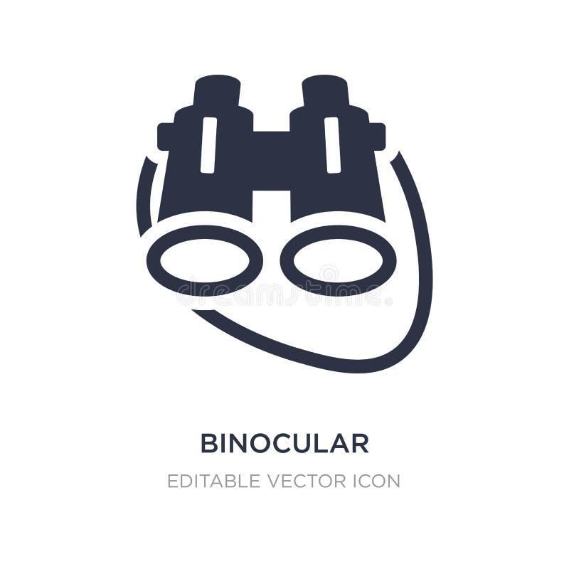 Binokulare Ikone auf weißem Hintergrund Einfache Elementillustration vom allgemeinen Konzept stock abbildung
