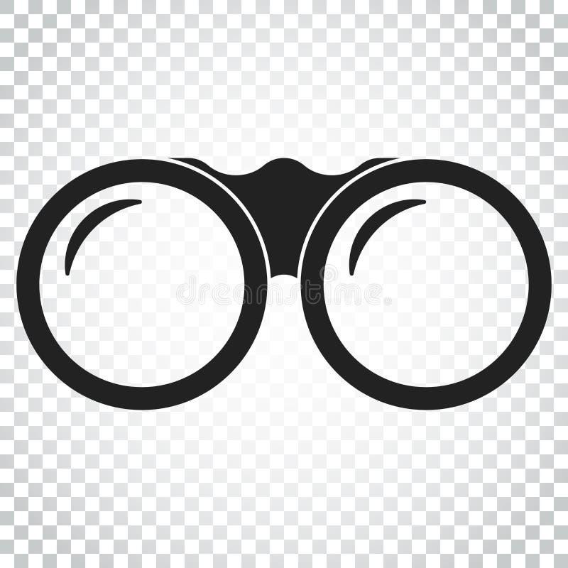 Binokulare Vektorikone Ferngläser erforschen flache Illustration sim lizenzfreie abbildung