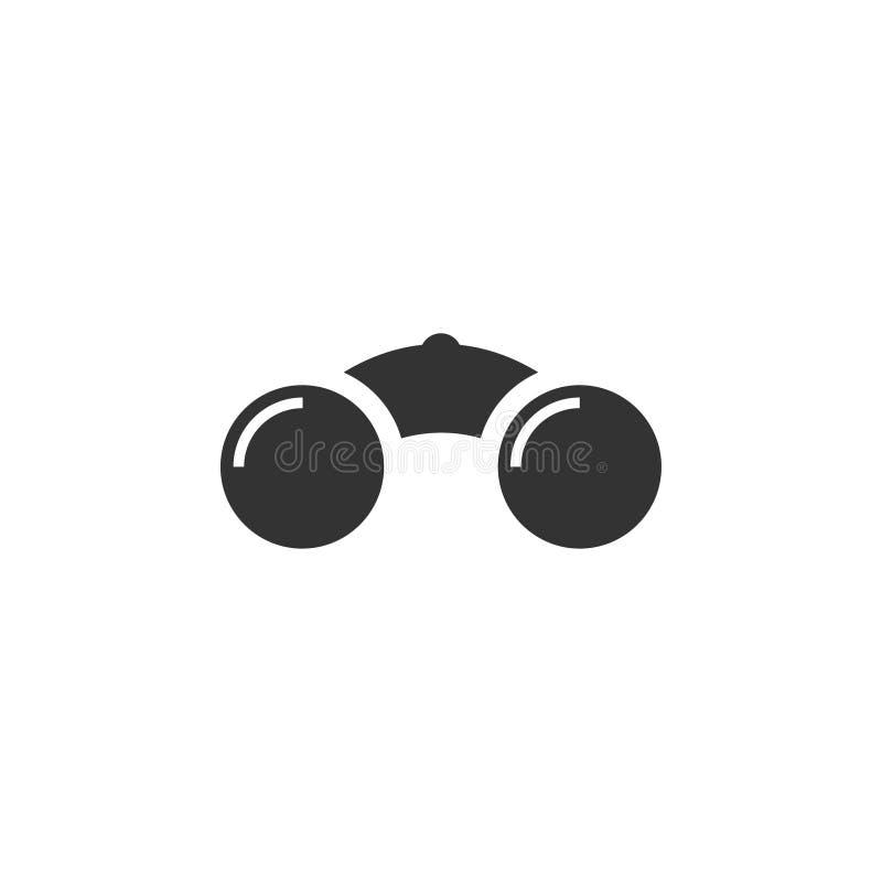 Binokularer Ikonengrafikdesign-Schablonenvektor lizenzfreie abbildung