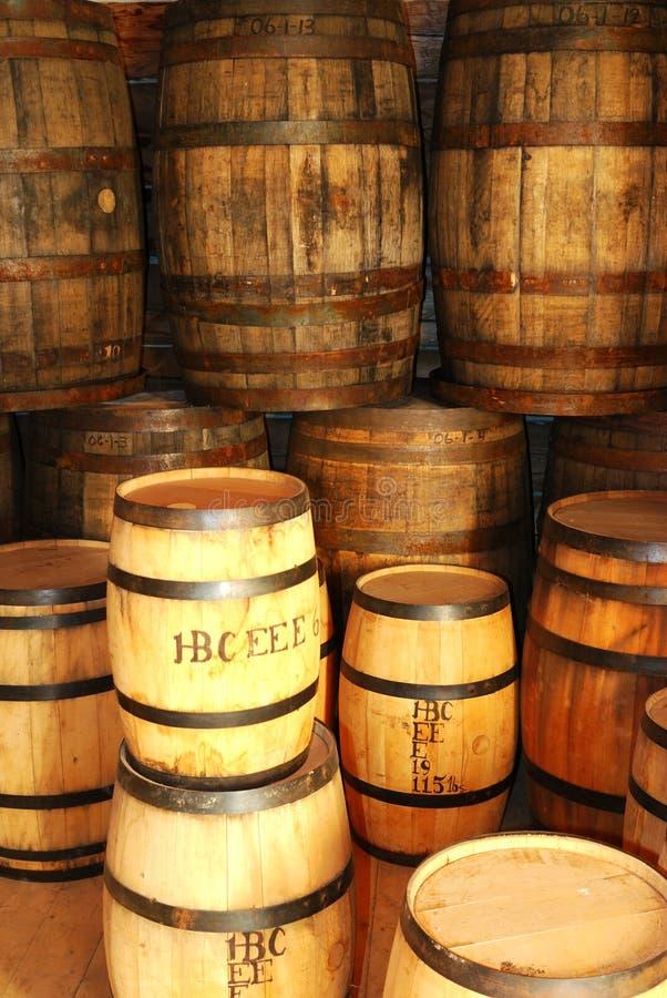 Bins. Vintage storage bins from around 1900 in fort edmonton park in edmonton, alberta, canada, Now it's been kept well for display stock image