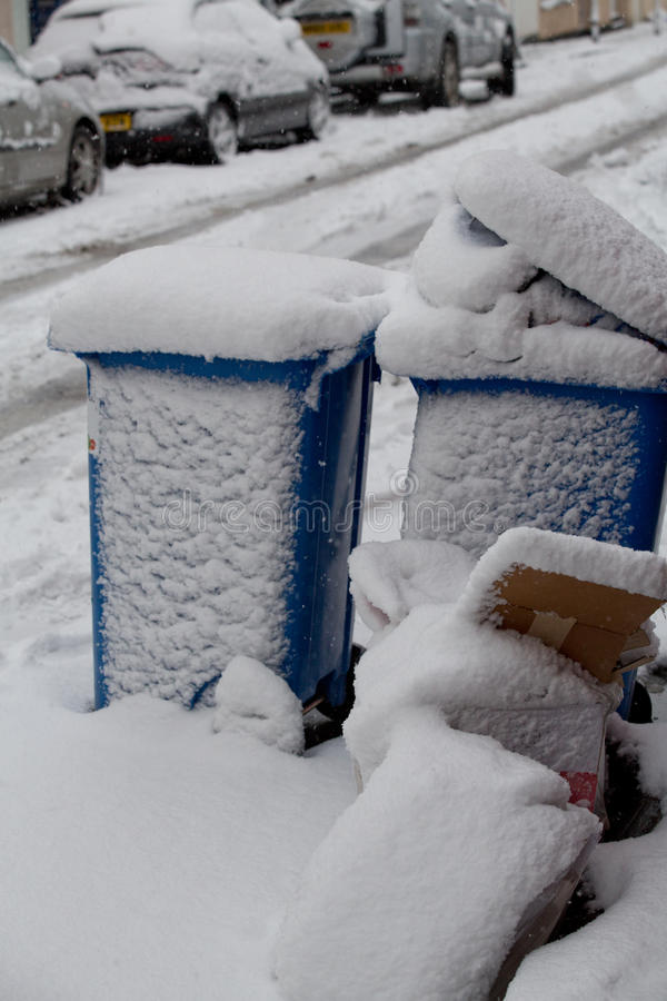 Download Bins Covered In Heavy Snow In Bristol Editorial Image - Image: 28713090