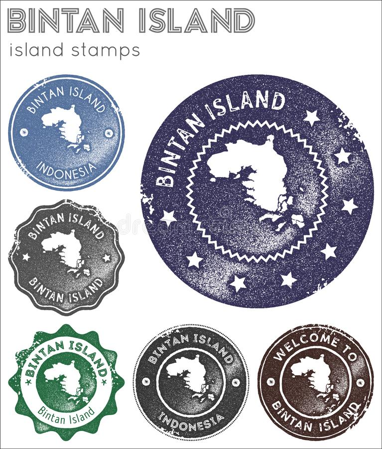 Bintan Island stamps collection. royalty free stock image