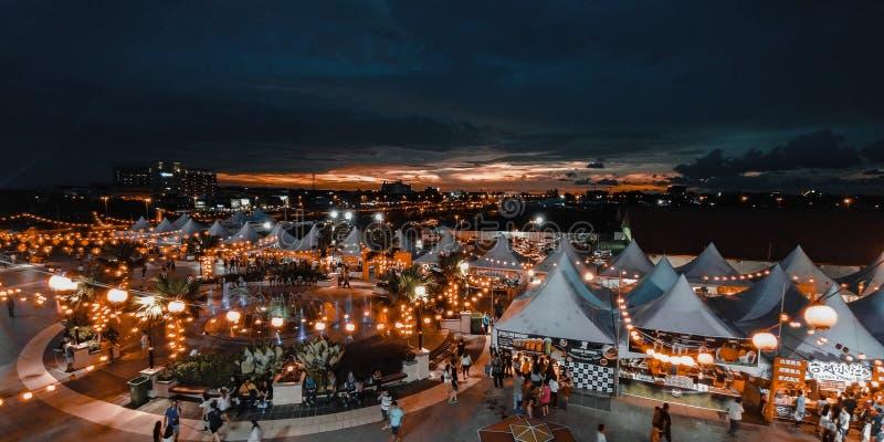 Bintulu lyktakarneval, Sarawak royaltyfria foton