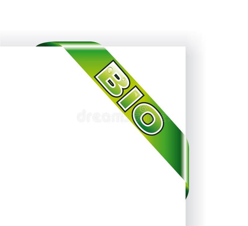 Bio étiquette verte illustration de vecteur