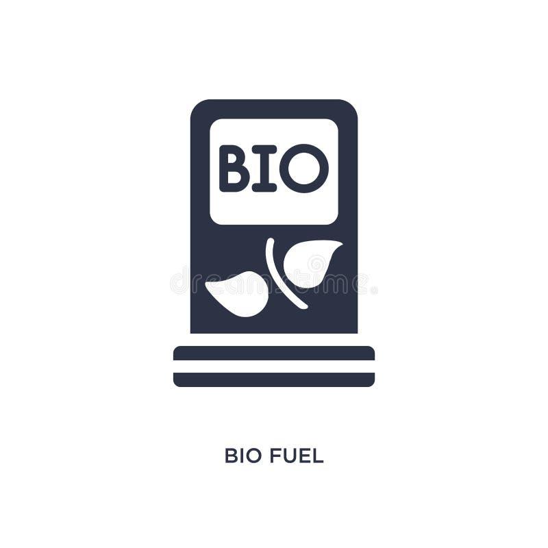 bio ícone do combustível no fundo branco Ilustração simples do elemento do conceito da ecologia ilustração do vetor