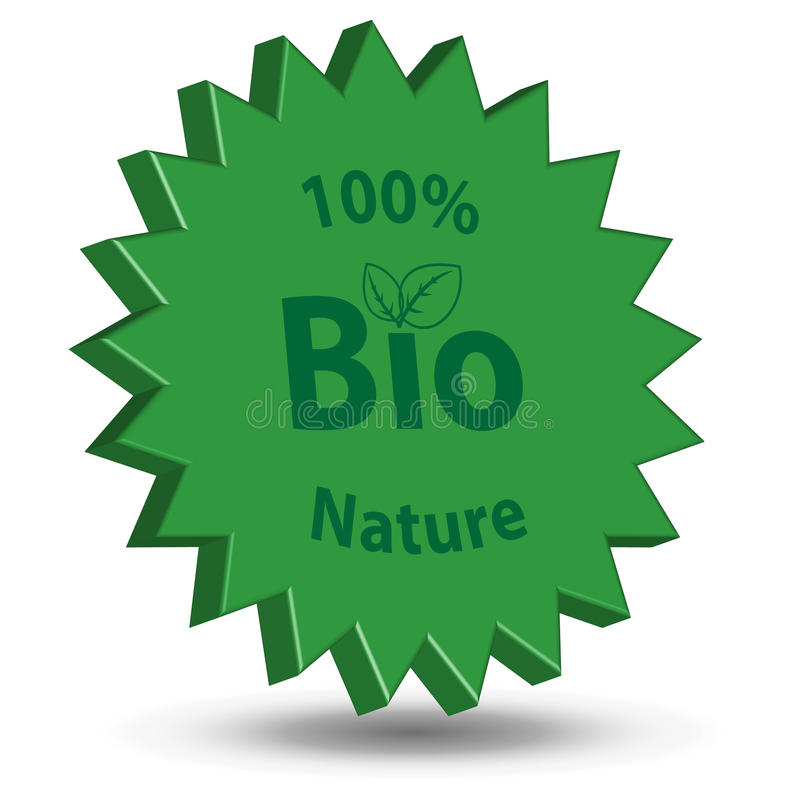 Bio. Symbol Bio with a shade on a white background stock illustration