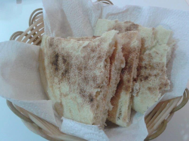 Bio alimentación del desayuno de la comida del pan fotografía de archivo