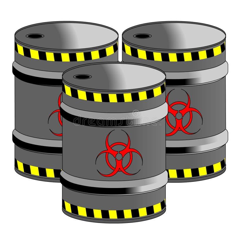 Bio barils de risque illustration libre de droits