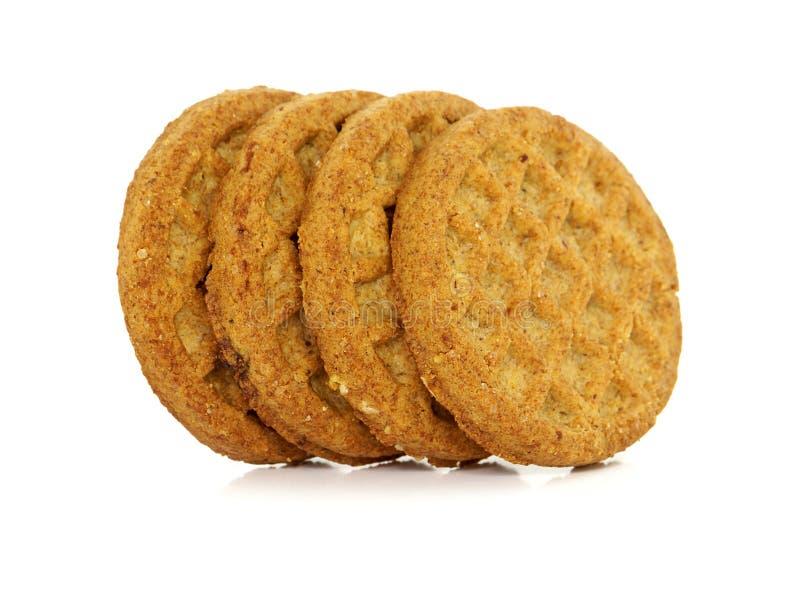Bio biscoitos wholegrain digestivos imagem de stock royalty free